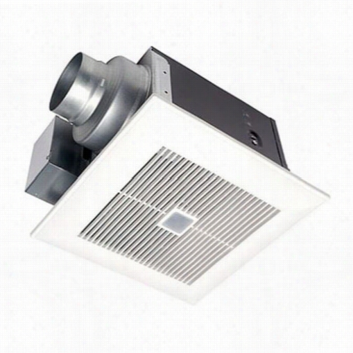 Panasonic Fv-08vqc5 Whispersense 80 Cfm Ceiling Mlunted Ventilation Fan With Dual Sensor Motion And Humidity Technology