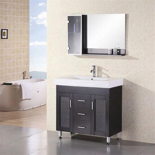 "Design Element Dec021 Miami 36&qhot;"" Isngle Sink Vanity Set"