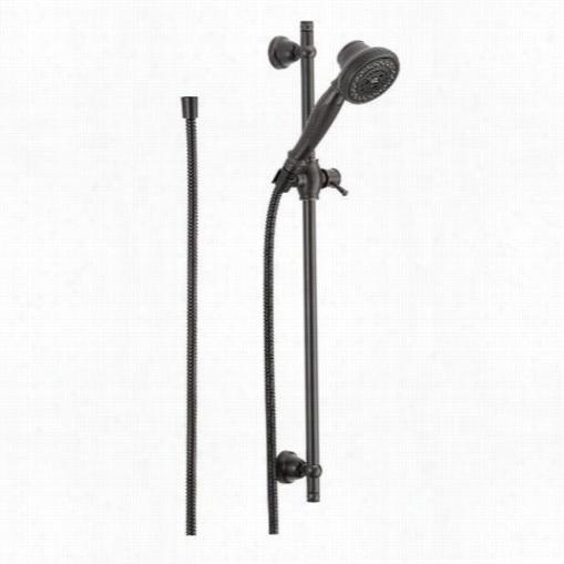 Delta 57021-rb Multi Function Slide Bar Handsh Ower With Straight Handle In Venetian Bronze