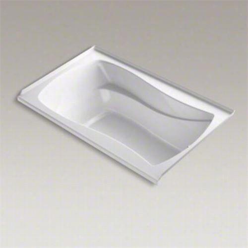 """Kohler K-1239-grw Marriposa 60&qquot;&quuot; X 36"""""""" Bubblemassag E Bath With Whole Til E Flznge, Left Hand Drain And Bask Heated Surface"""