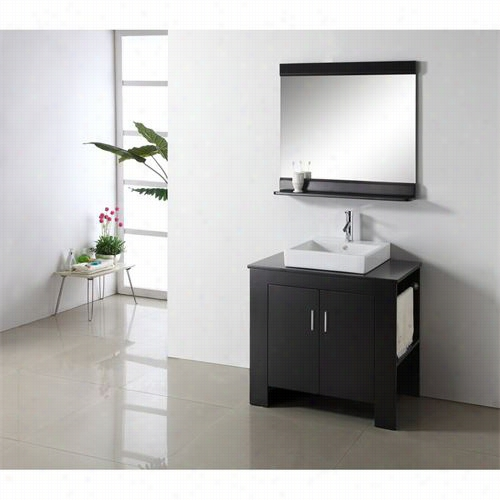 "Virtu Us A Ms-7036r Tavian 36&quoot;"" Single Sink Bathroom Idle Show With Right Sid Twel Rack - Vanity Top Included"