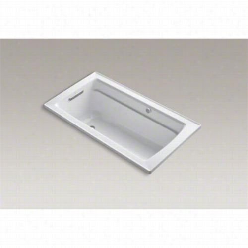 "Kohler K-1122-gw Archer 60&quo;t"" X 32"""" Drop In Bath W Ith Reversible Drain"