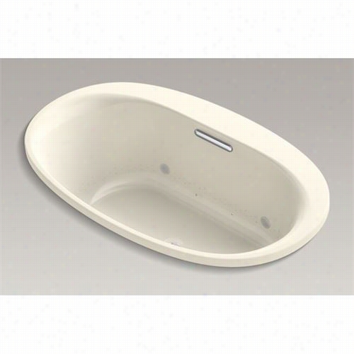 "Kohler 5714-gvbcw Underscore 60"""" X 36"""" Oval Drop-in Vibracoustic + Bubblemassage Gas Bath With Bask Heated Surface And Chromatherapy"