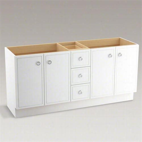 """Kohler 99152-tk D Jacqurad 72"""""""" Toe Kick Vanity Cabinet Only Attending Split  Top Drawers"""