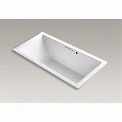 """Kohler K-1835-gw Underscore 72""""""""t; X 36"""""""" Drop In Bath With Reversible Drain And Bask Heated Surface"""