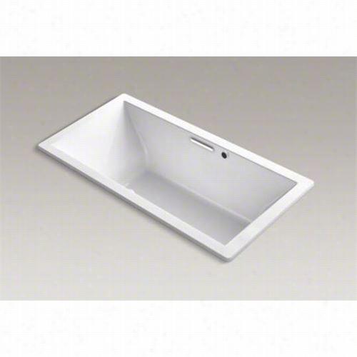 "Kohler K-1835-gw Underscore 72""&quott; X 36"""" Drop In Bath With Reversible Drain And Bask Heated Surface"