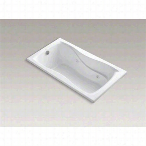 "Kohler K-12 09-hb Hourglass 60"""" X 32""&quto;; Drop-in Whirlpool Bath W Ith Custom Pump Location And Heater"