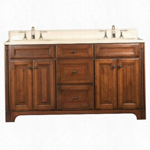 """Wate Creation Spin60 Spain 60"""""""" Wide Double Sink Bathroom Vanity - Conceit Top Included"""
