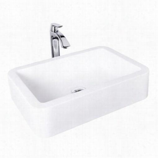 Vigo Vgt1007 Navagio Composite Vesswl Sink And Linus Bathroom Vessel Faucet In Chrome