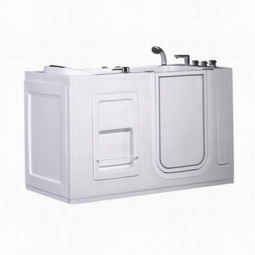 "Aston Wt623j.1j-ac-ii-r 55"""" Walk-in Whilrpool Ath Tub In Whit With Right Drain And Side Panel"