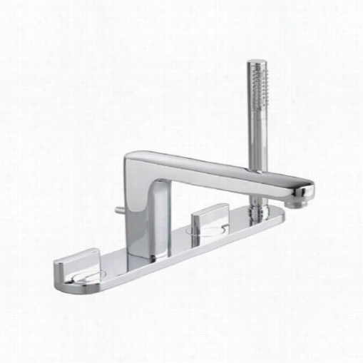 Americans Tandard 2506.921 Moments Deck Mount Utb Filler With Individaul Escutcheons And Perosnal Shower