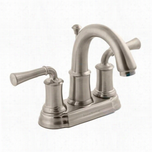 American Standard 7420.20 1.295 Portmsouthh 2 Lever Handle Centerset Bathroom Faucet In Satin Nikcel With Brass Spout