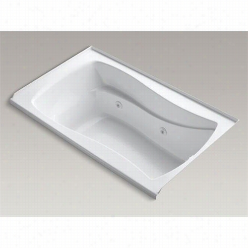 "Kohhler -k1339~rw Mariposa 60"""" X 36&quot"" Alcove Whirlpool With Bask Heated Surface, Integral Tile Flange And Right-hand Drain"