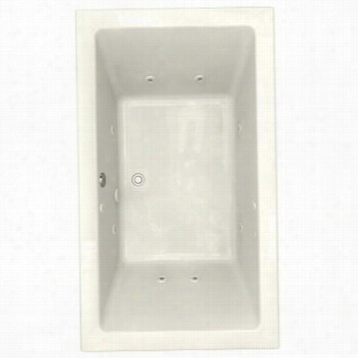 "American Standard 2943.018c.222 Studio 72""""x42""""; Everclean Whirlpool Drop-in Tub In Linen"