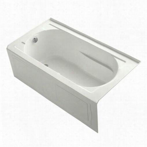 Kohler K-1357-gla Devonhsire 5' Three Wall Alcove Airpool Tub With Left Hand Drain