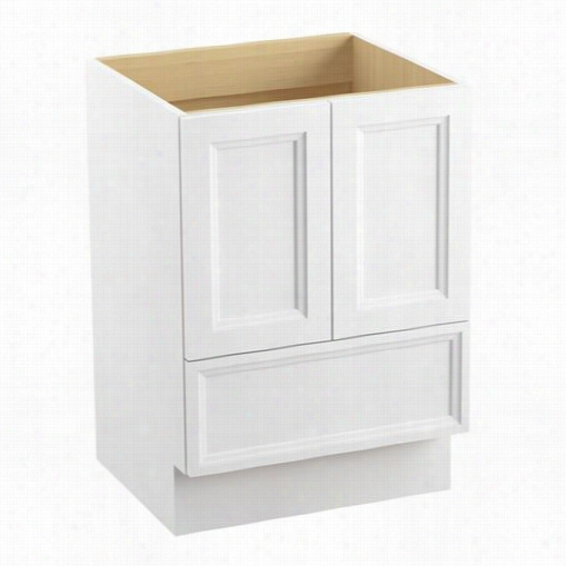 """Kohler 99514-tk Damask 24""""&qout; Toe Kick Vanity Cabinet Only With 2 Doors And 1 Drawers"""