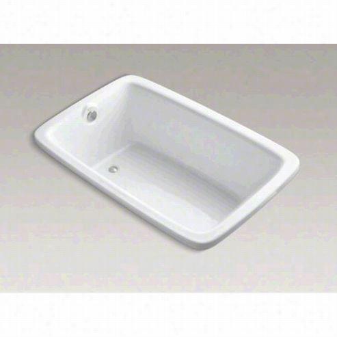 "Kohler K-1158-vb Bancrft 66"""" X 42"""" Drrop-in Bath Tub With Vibracoustictechnology And Reversible Drain"
