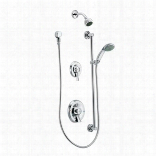 Moen 8342ep15 Double Handle Perssure Balanced Shower But Valve Trim Iin Chrome