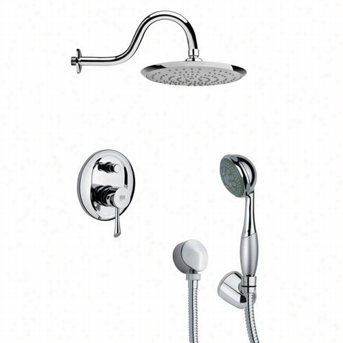 "Remer By Nameek's Sfh6078 Orsino 2-5/7"""" Not Directly Shower Faucet Write In Chrome With Hand Hower Andd 12-3/5&quto;""h Diverter"