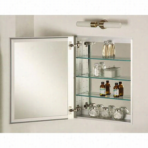"Afina Sd11530srbrdat Broadway 24"""" X 36"""" Single Door Semi Recessed Drug Cabinet In Aluminum Trim"