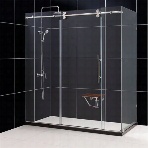 "Dreamline Shen60367212 Enigma 36"""" X 72"""" X 79 """" Fully Frame Elss Shower Enclosure"