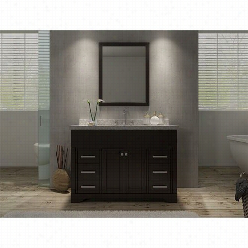 "Ariel Bath M049s-esp Stafford 49""""single Sink Vanity Set In Espresso - Avnitytop Included"