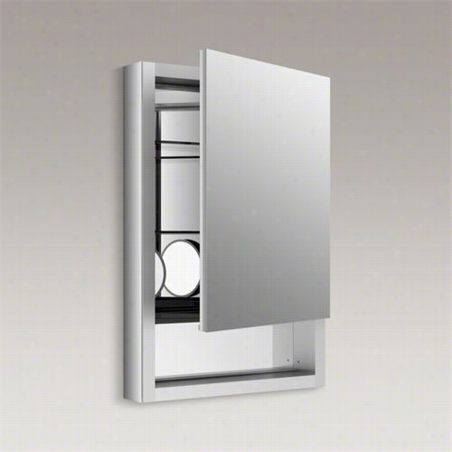 "Kohler K-99005-r-na Verdera 20"""" Aluminum Medicime Cabinet With Magnifying Mirror And Right Hand Hinge"