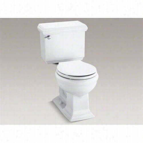 Kohler K-3986-u Meomirs 1.28 Gpf Two Piece Round Front Classic Comfort Height Toilet With Rigt Hand Trip Lever