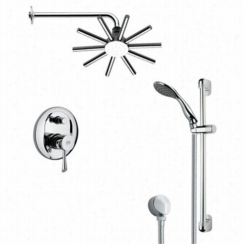 "Remer By Nameek's Sfr7085 Rendino Slleek Shower Fwucet Place In Chrome Attending 2-1/8""""w Wall Outlet"