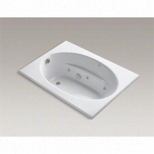 "Kohler K-1112-cb Windward 60&quto;"" X 42"""" Drop-in Whirlpool  Bath With Custom Pump Location"