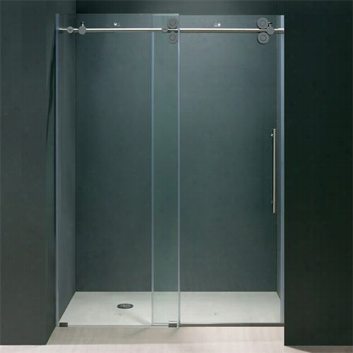 "Vigo Vg6041 Elan 64"""" Frameless Shower Dood"