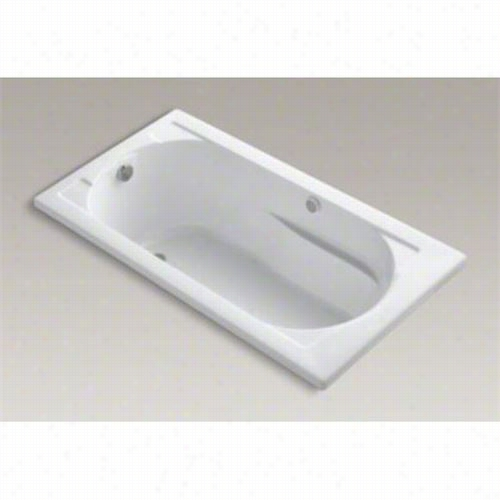 """Kohler K-1357-gw Devonshire 60"""""""" X 32quot;"""" Three Wall Alcove Drop In Bath With Reversible Drain And Bask Heat Dd Surfa Ce"""