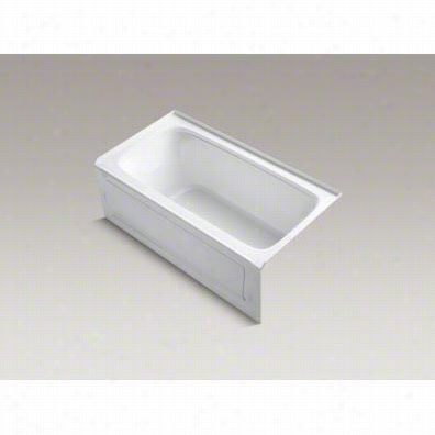 """Kohler K-1151-graw Bancroft 60"""""""" X 32"""""""" Theee Wall Alcove Bath With Integral Apron And Right Hand Drain"""