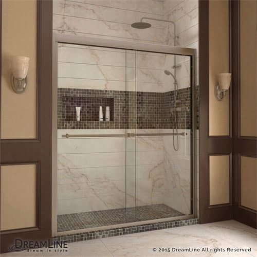 "Dreamline Shdr-1260728 Duet 56"""" - 60""&q Uot; X 72"""" Bypass Sliding Shower Door"
