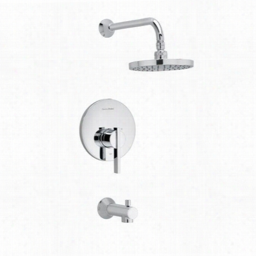 American Support T403.502.002 Betwiick Single Lever Handle Bath And Shower Trim With Flowise Showerhead  In Chrome