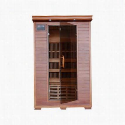 Heatwave Sauna Sa1309 Yukon 2 Person Cedar Heatwave Infrared Squna With Carbon Heaters