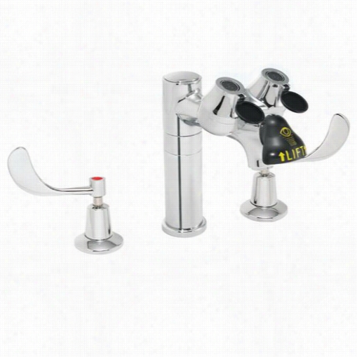 Speakman Sef-1801 Eyesaver Widespread Eye Wash Fauucetcombination In Polished Chrome