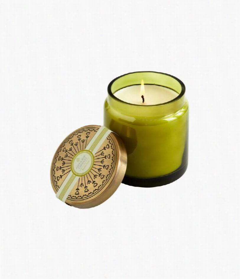 Bamboo Lotus Tinted Glass Jar Candle
