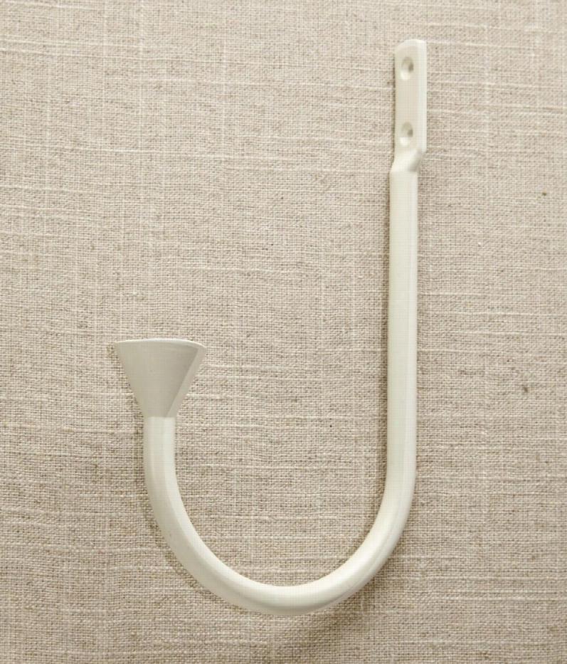 Becket Curved Arm Holdbacks -  Cream