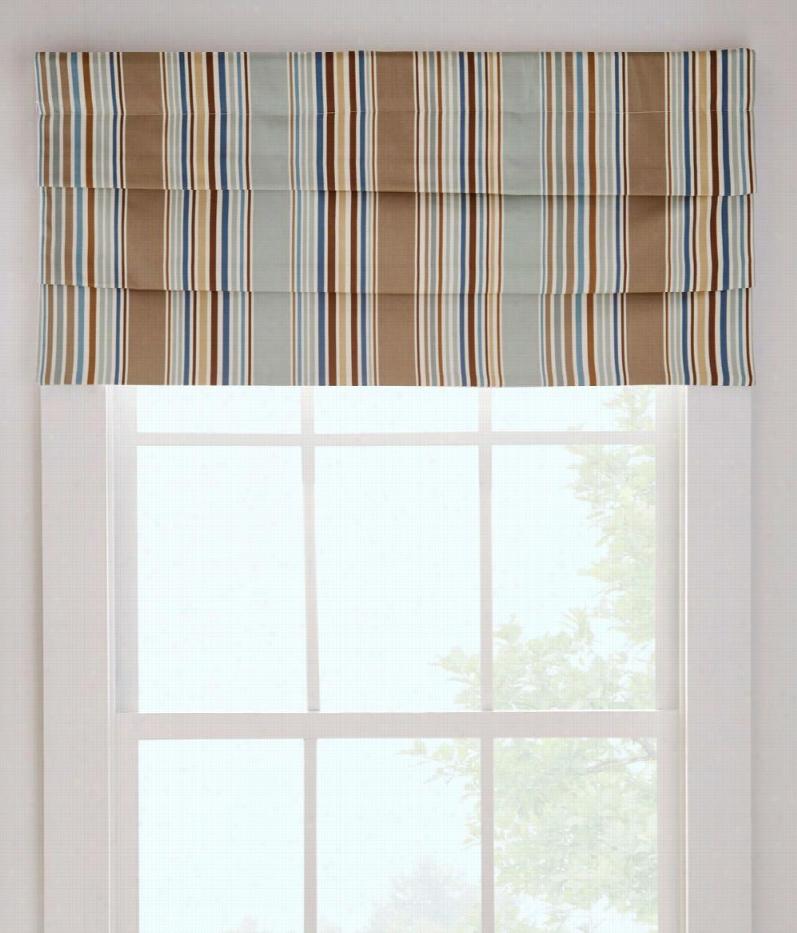 "Graham Deck Stripe Lined Faux Roman Catholic Shade - Blue - 27""&quof; W"