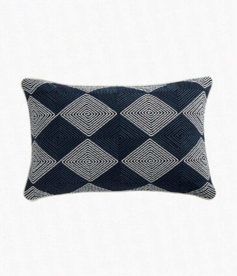 """Jamestow Pillow - Navy- 21"""""""" W X 13"""""""" H"""