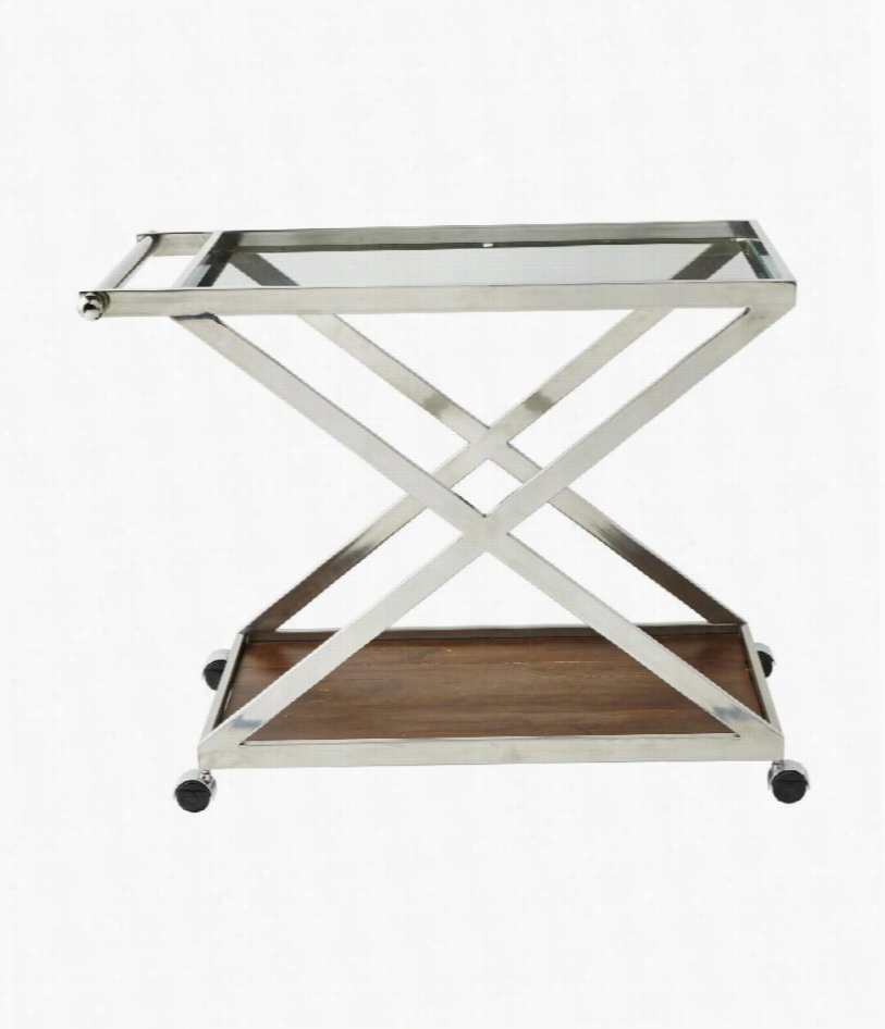 Kips Bay Serving Cart - Stainless Steel