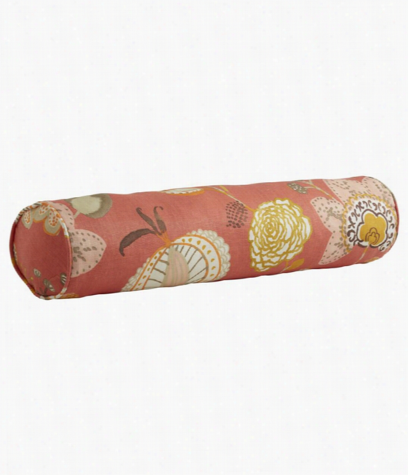 "Langley Floral Pillow - Sunset - 28"""" W X 6"""" H"