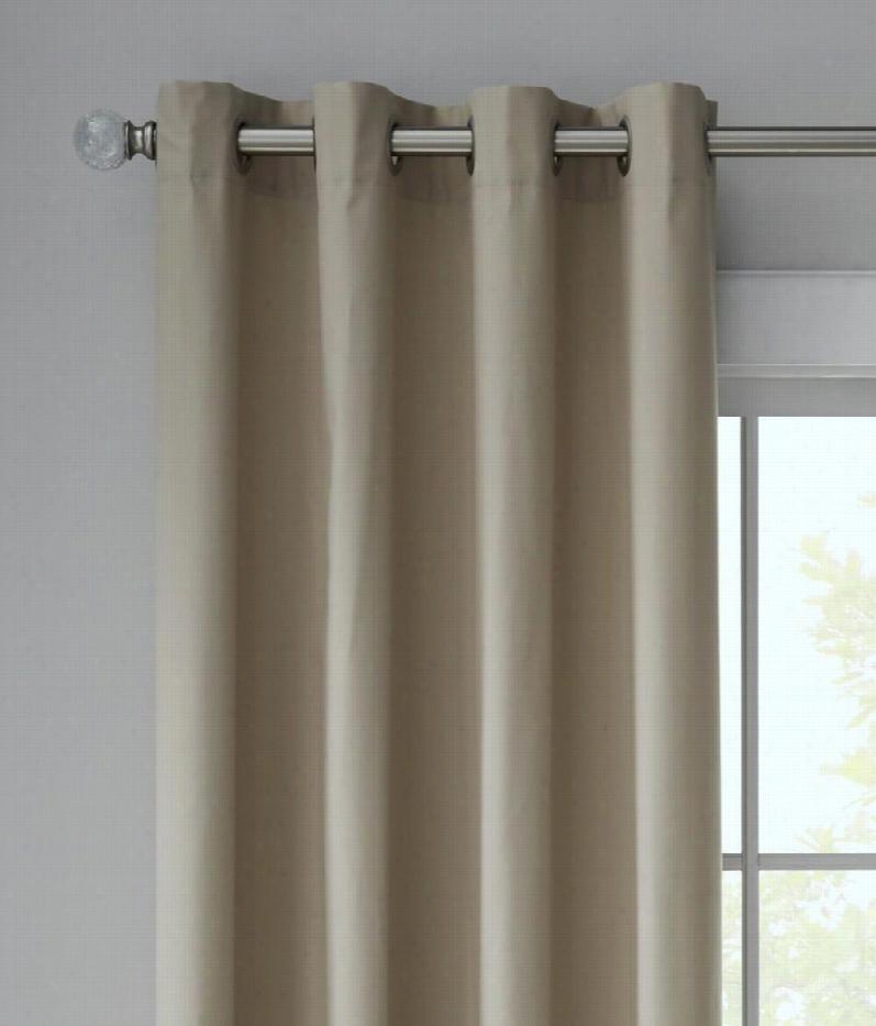 "Sh Eridan Solid Duck Groommet Curtains Pair - Khaki - 63"""" L"