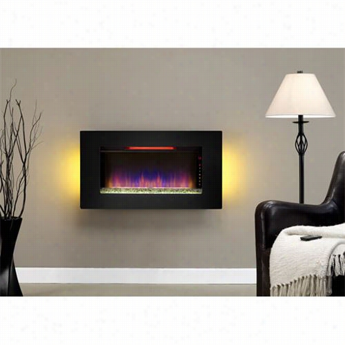 Classic Blaze 36ii100grg Elysium Wall Hangnig Fireplace In Black