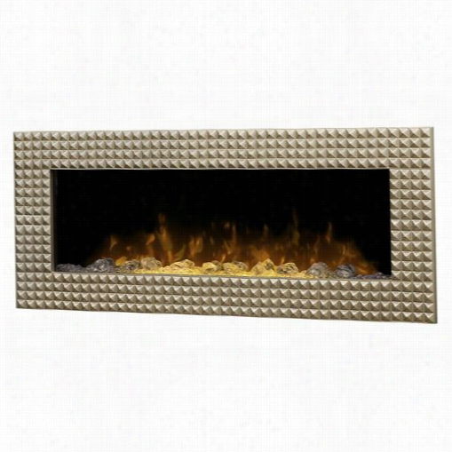 Dimplex Dwf36ag-1452cp Ossing Ton Wall Mount Electricc Fireplace In Champagne