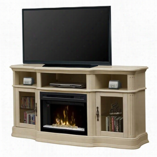 Dimplex Gds25hg-1246p Portobello Electric Fireplace Media Consoe In Parchment With Acrylic  Ice