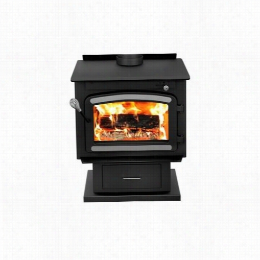 Drolet Db03081 Classic Wood Stove Attending Blower In Metallic Black