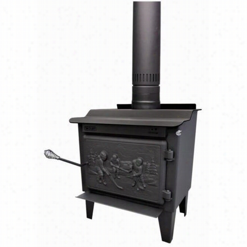 Drolet Db03185 Rocket High Efficiency Epa Wood Stove O Nlegs With Solid Cast Iron Ddoor