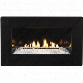 Empire Comfort Systems Df28gbl Decorative Tempered Gass Fireplace Front With Black Border